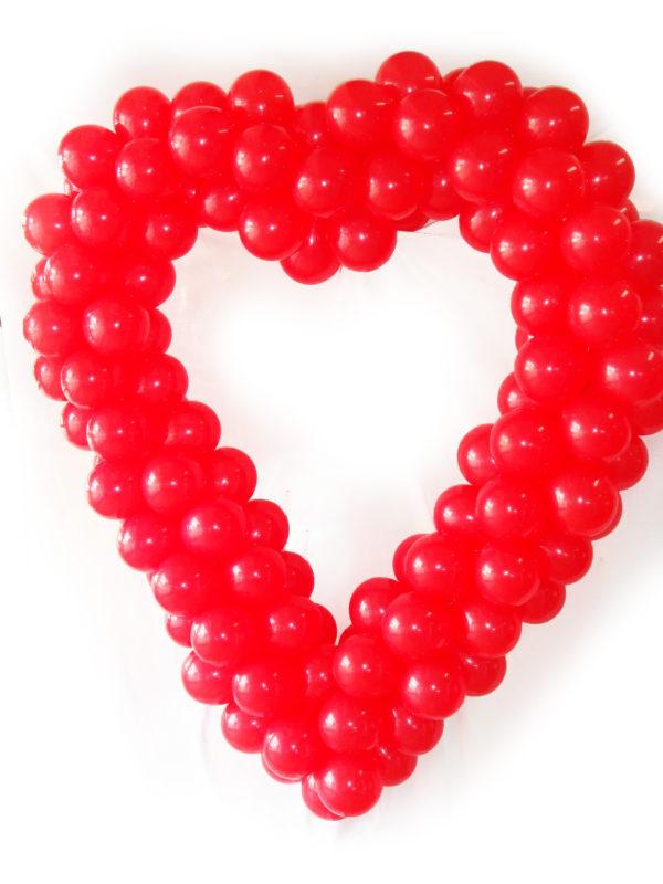 corazon de globos